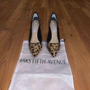 Saks Fifth Avenue Leopard Pumps